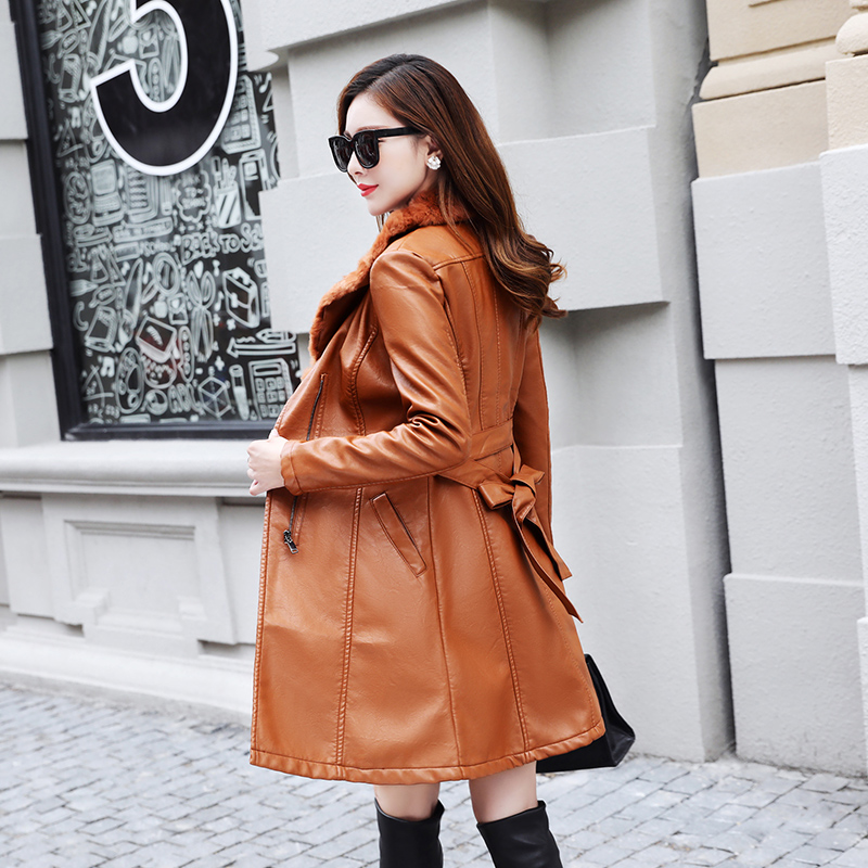 Winter Thick PU   leather   Jackets 2019 Warm Autumn Fashion Faux   Leather   Black Women Coat Casual   Suede   Female Outerwear M-3XL