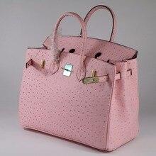 7d11017edc68 Модная женская сумка из натуральной кожи с узором страуса \ сумка женская  сумка через плечо сумка-мессенджер ~ Гарантированное к.