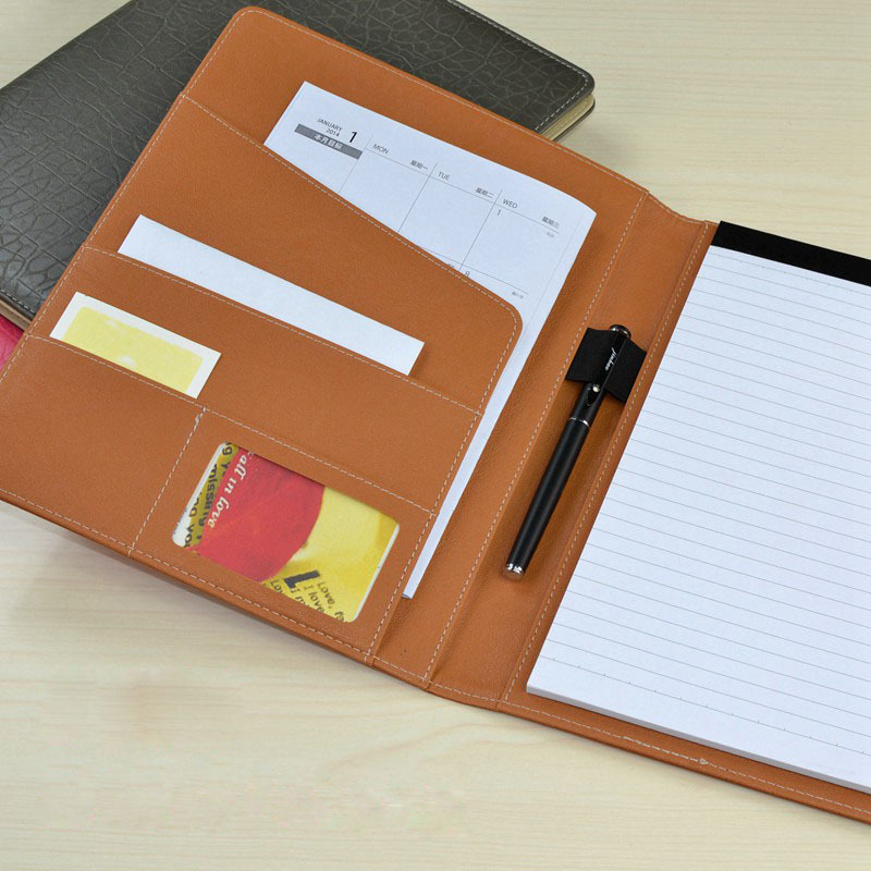 professional office file folders handmade pu leather a4 folder
