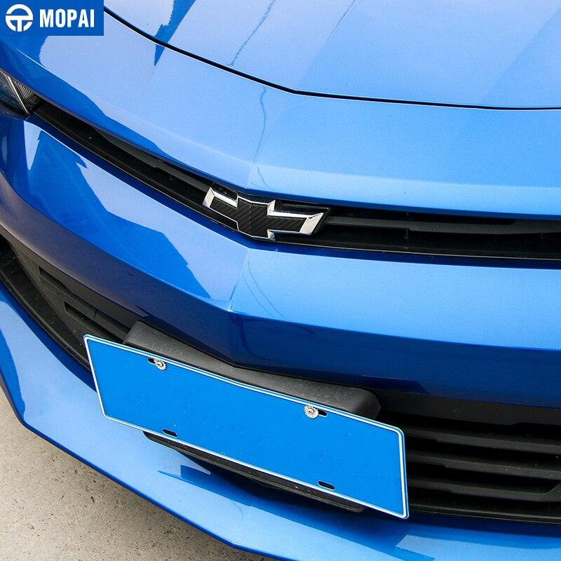 Image 2 - MOPAI наклейка из углеродного волокна Автомобильная передняя решетка Задняя поперечная наклейка эмблема значок стикер для Шевроле Camaro 2017 Up автомобильные аксессуары-in Наклейки на автомобиль from Автомобили и мотоциклы