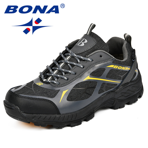 BONA Outdoor Sports Camping Shoes Men Tactical Hiking Shoes For Summer Breathable Waterproof Coating Men Athletic Shoes Lahore