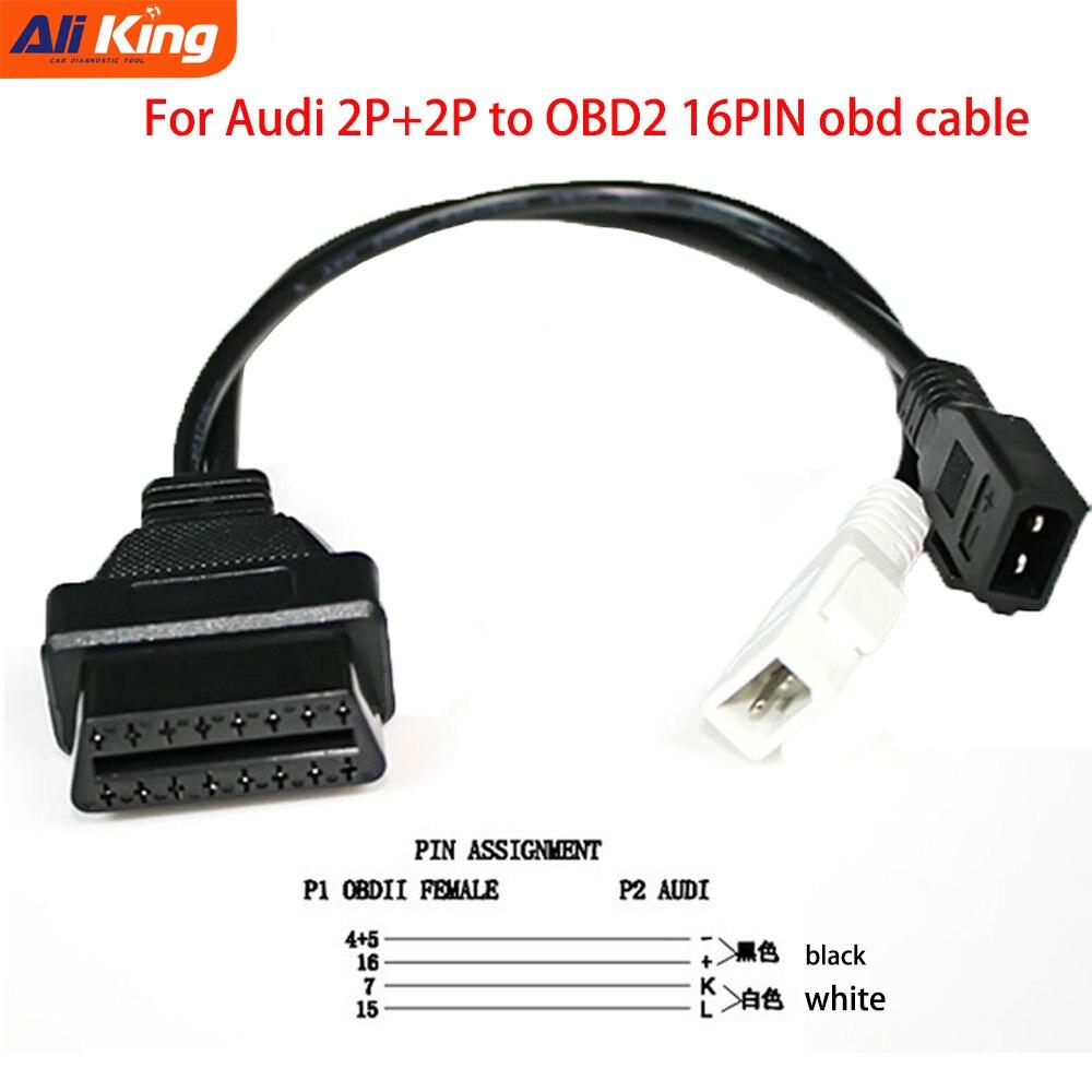 VAG Cable For Au di 40P+40P 40x40 to 40Pin Female OBDII Connector for Sko da  for V W 40x40 OBD40 to OBD40 Diagnostic Cable