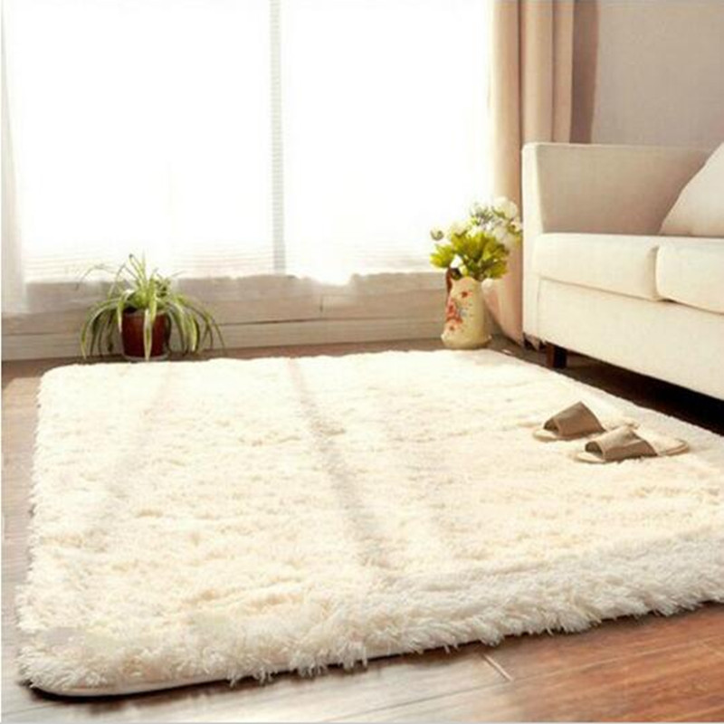 Lovely Hot Sale Carpet Soft Solid Rug Anti Skid Carpets Fit For Living Room  Bedroom Long Plush Door Floor Mat
