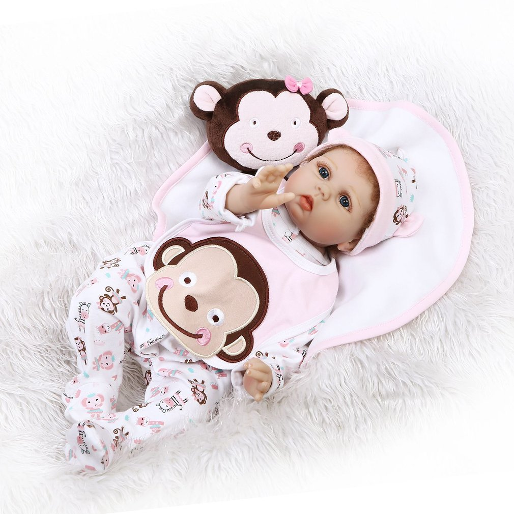 55CM Kid Lifelike Baby Reborn Doll Toy Lovely Soft Silicone Handmade Newborn Baby Girl Best Birthday Christmas Gift For Children55CM Kid Lifelike Baby Reborn Doll Toy Lovely Soft Silicone Handmade Newborn Baby Girl Best Birthday Christmas Gift For Children