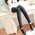 3988# Elastic Waist Knitted Skinny Maternity Legging with Hole 2017 Spring Pregnancy Belly Pants Clothes for Pregnant Women