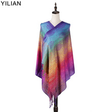YILIAN Brand Print Classic Paisley Gradient Women Head Scarf  Autumn and Winter Cotton Shawl Scarf for Lady LL001 chic style gradient color irregular print anti uv scarf for women