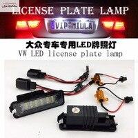 JanDeNing 2pcs Error Free 18 LED License Plate Lights For VW POLO/PHAETON/Passat/Golf