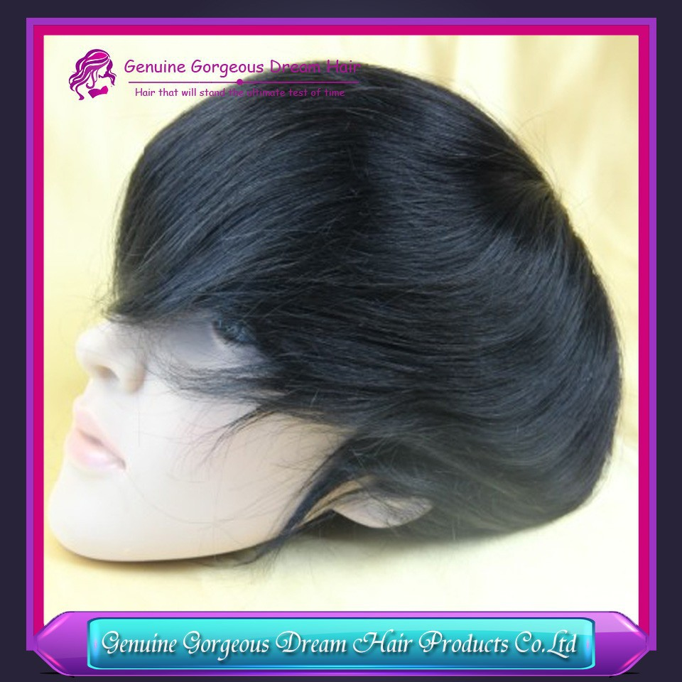 Genuine Gorgeous Dream Hair Newest India Remy Hair mens toupee 6 x 8 hair toppers men