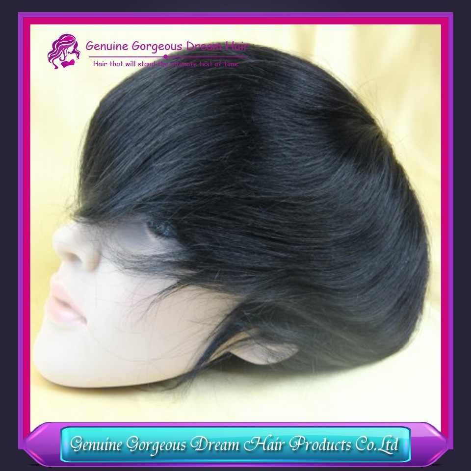 "Genuine Gorgeous Dream Hair Newest India Remy Hair mens toupee 6""x 8""hair toppers men's hair systems pieces Mono base"