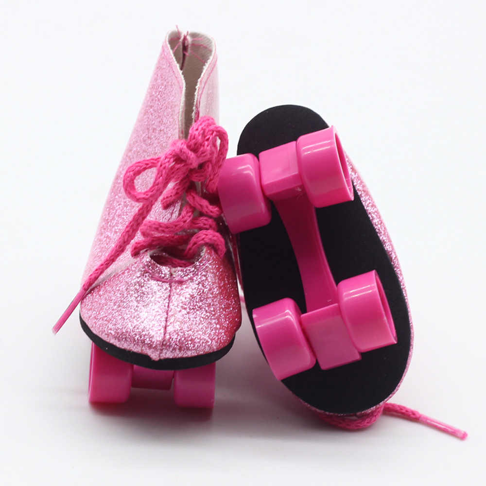 ... New Style Pink Doll Handmade Skate Shoes Fit 43cm Baby Born Doll  Clothes 18 Inch American ... 375ceb5d02f9