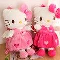 2016 Chegada Nova Rosa Olá kitty Brinquedos de pelúcia mochila crianças Sacos de Escola Dos Desenhos Animados Do Bebê meninas Bonito Saco de Escola para Crianças