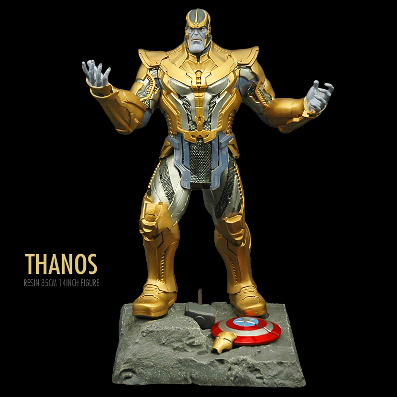 Pandadomik New Thanos Large Size Original Resin 14inch Toy Figure Model Avengers Action Toy Figurine infinity war Marvel Toys [funny] hot infinity gauntlet thanos gem gloves model avengers infinity war action figure toy resin decoration collection model
