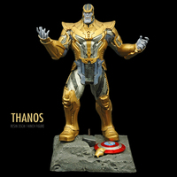 Pandadomik New Thanos Large Size Original Resin 14inch Toy Figure Model Avengers Action Toy Figurine infinity war Marvel Toys