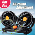 24V Double-headed car fan All-Round Portable Car Vehicle Truck Air Fan Adjustable Cooler Cooling  Slient