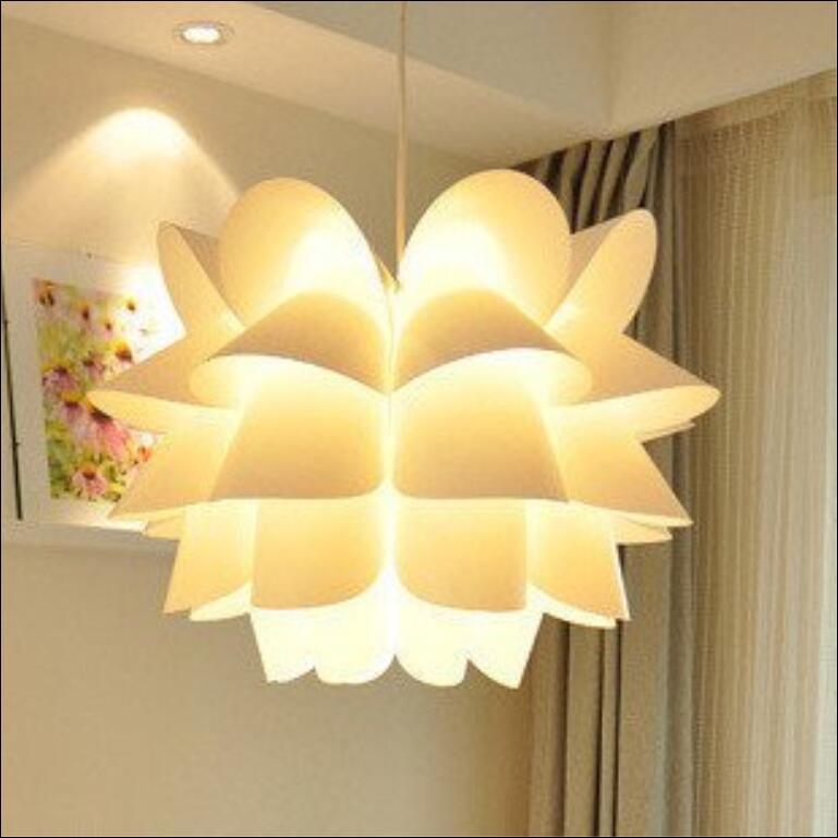 Modern white PP Lotus shape lamp pe light pendent lighting bedroom Chandelier FG654Modern white PP Lotus shape lamp pe light pendent lighting bedroom Chandelier FG654
