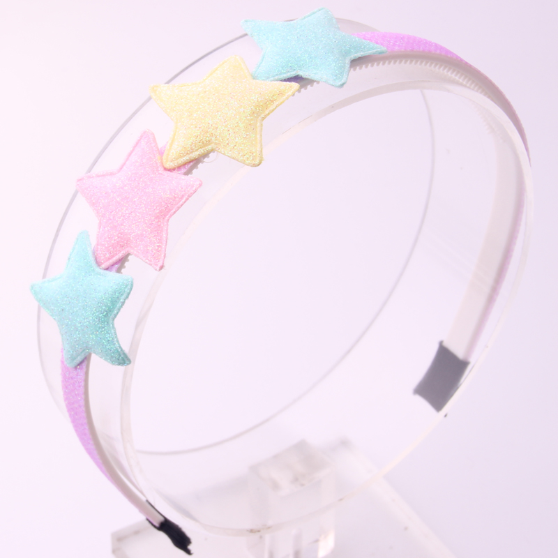 2017 new arrival fahsion hairspins Xmas Christmas gifts for girls colored star hairbands for children beautiful