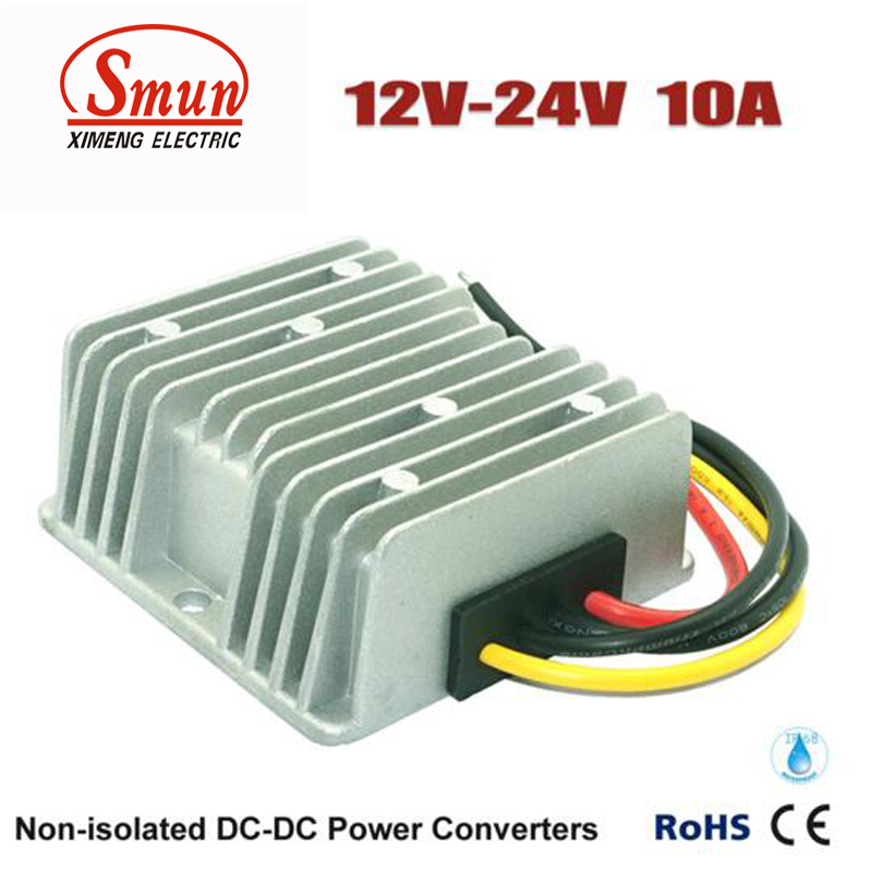 Step Up Voltage 12V DC to 24V DC 10A POWER CONVERTER waterproof regulator module step up dc 10v 12v 18v to dc 19v 15a 285w for solar power system voltage converter transformer