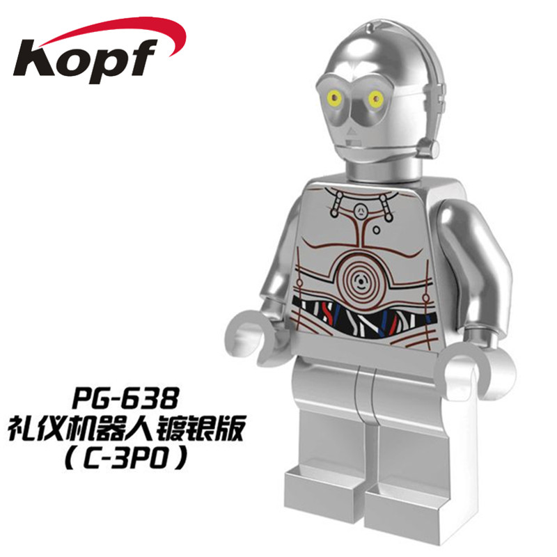 Model Building Obedient Pg638 Single Sale Chrom Silver Dolls C3po Iron Man Captain American Limited Edition Building Blocks Bricks Children Gift Toys A Plastic Case Is Compartmentalized For Safe Storage
