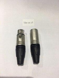 Image 2 - 60PCS/lot original FOR NEUTRIK connector 30PCS NC3MXX & 30PCS NC3FXX Male et femelle Un ensemble 3 Broches XLR Connecteur avec!