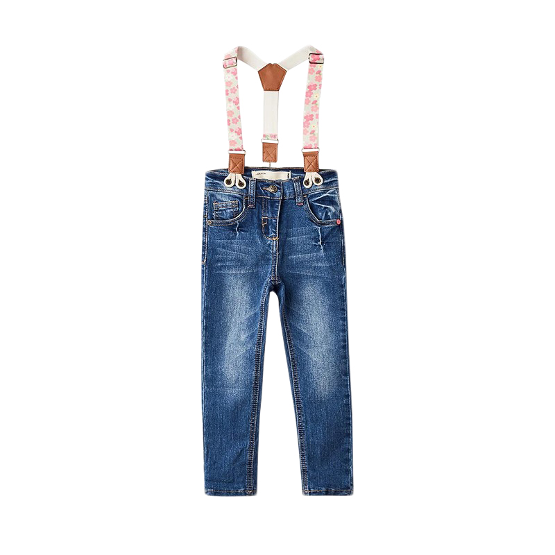 Фото - Jeans MODIS M182D00199 for girls kids clothes children clothes TmallFS girls destroyed jeans