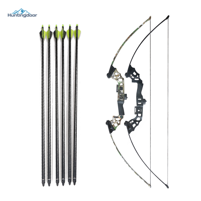 40 Hunting Takedown Recurve Archery Bow and Arrows 32'' Fiberglass Arrows with Replacement Broadheads  Black/Camo Hunting Bow wholesale archery equipment hunting carbon arrow 31 400 spine for takedown bow targeting 50pcs