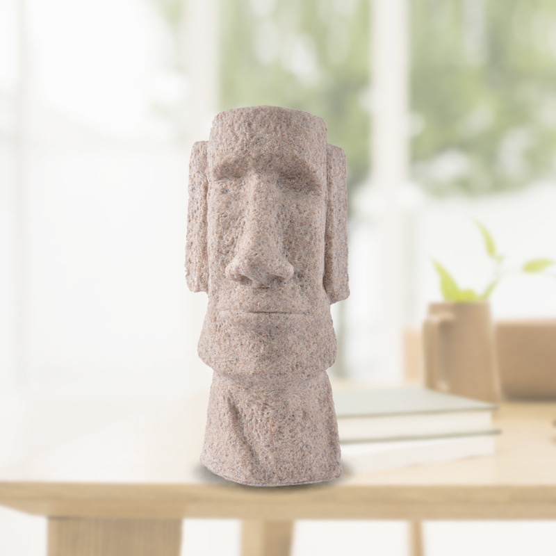 Classic Shots Easter Island Statues Gifts Creative Household Decoration Fine Sandstone Polished Crafts