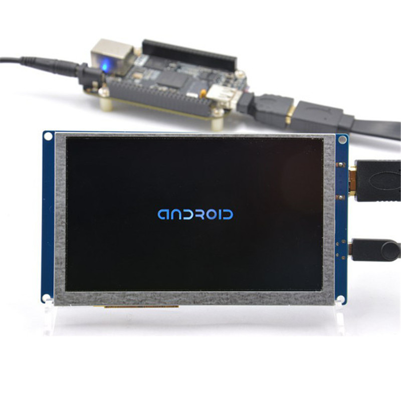 5 Inch 800 x 480 HDMI Display Module With USB Touch Screen For Raspberry Pi 5V Power Via USB Micro Durable Board Module