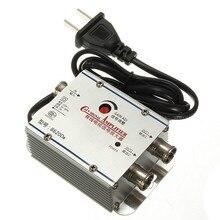 Le plus bas Prix 80x55x30mm 2 Way Catv TV Amplificateur de Signal AMP Booster Antenne Splitter Set Maison À Large Bande Tv équipements