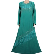 Muslim abaya dress islamic hijab long dress dubai kaftan robe abaya turkish clothes muslim abaya dresses green 70MD791