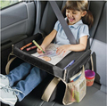 Easy Wash Children Car Seat Stroller Children Toy Tray Easy Installation Can Adjust the Size Black Tray baby Car Desk