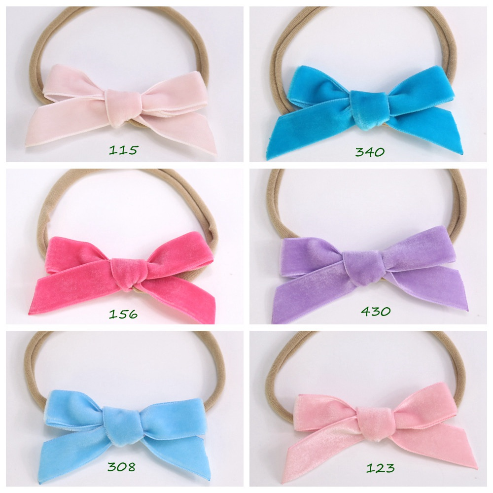 Baby Girls Lilac Grosgrain Bow Headband fits 34-50cm circumference Brand New