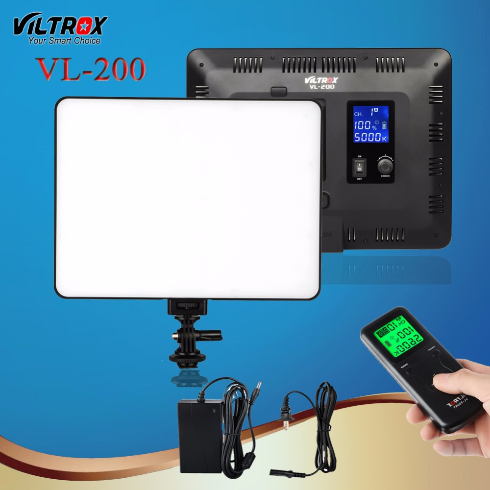 Viltrox VL-200 30W LED Camera Studio Light For Video Fotografia Wireless Remote Control LCD 13 Bi-color Dimmable Fr Canon DSLR viltrox vl 200 pro wireless remote led video studio light lamp slim bi color dimmable ac power adapter for camcorder camera