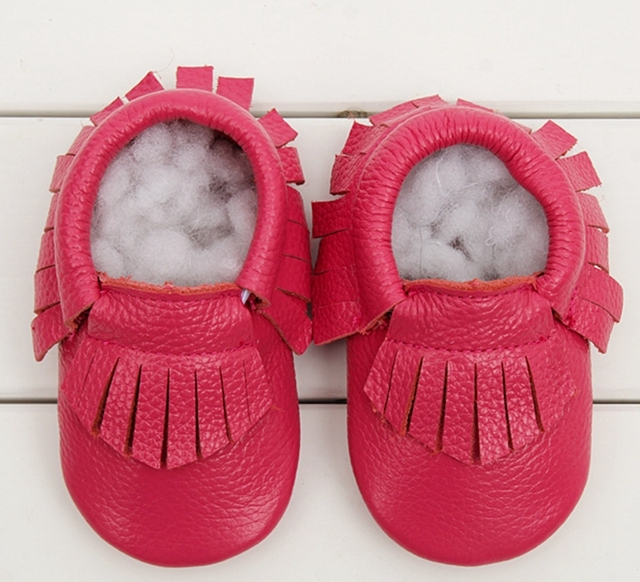 Genuine Leather Soft Sole Baby Walker Shoes Boys Girls Handmade Fringe Sapatos Baby Moccasins Firstwalker Shoes Unisex TX73