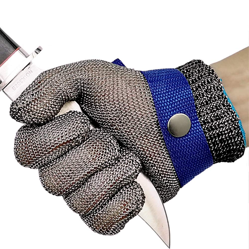 Safety Cut Proof Stab Resistant Butcher Gloves Stainless Steel Metal Mesh ME