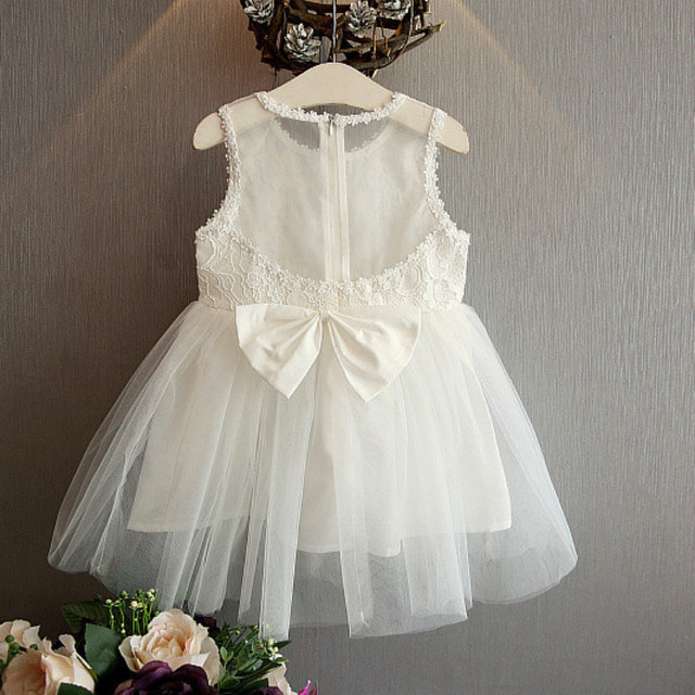 a8ca84a5e 2017 new lace flower girl dresses Ivory white wedding party birthday ...