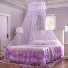 Round Hung Mosquito Net For Bed Canopy Adults Bedding Curtain Mesh Students Bed Bunk Canopy Netting Elegant Lace moustiquaire(China)