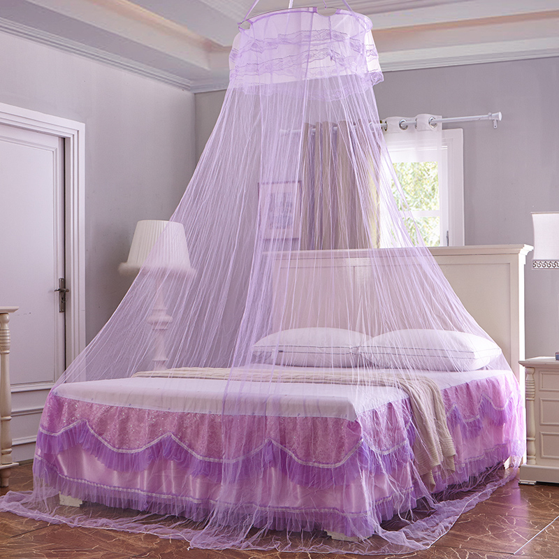 Round Hung Mosquito Net For Bed Canopy Adults Bedding Curtain Mesh Students Bed Bunk Canopy Netting Elegant Lace moustiquaire