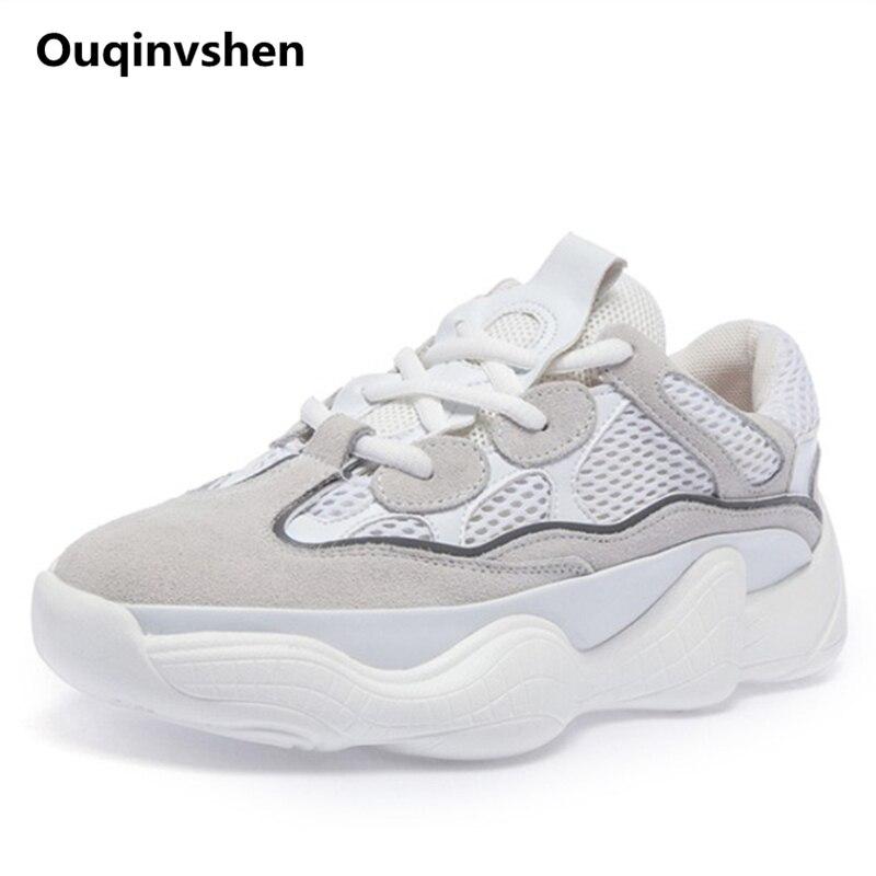 forme noir Rond En Chaussures Mode Dentelle Vache Mélangées Printemps Sneakers blanc Plate 2018 Bout Off Daim Ouqinvshen Femme Couleurs Blanc Femmes Beige Yyb7fg6v