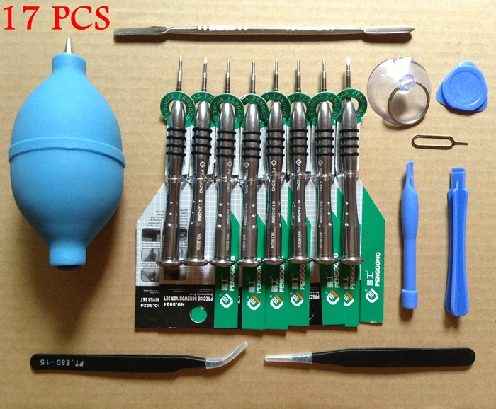 17 in 1 Mobile phone disassemble opening repair tool for iphone 5 5s Pentalobe 0 8