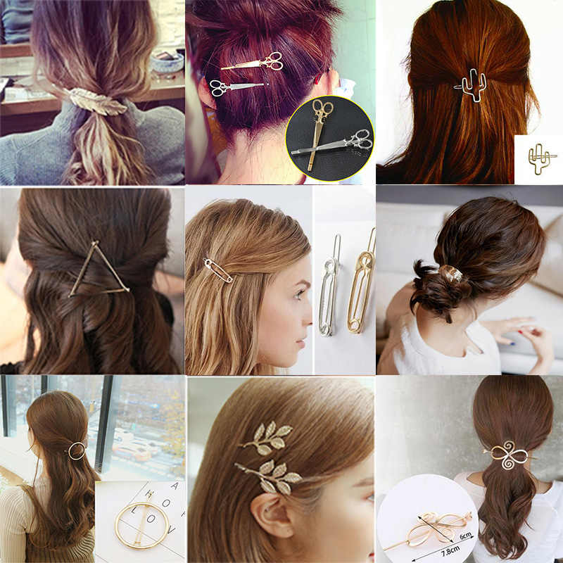 Fashion Many Style Hairpin Tiaras For Girls Lovely Hair Clips Lovely Cool Women Hair Accessories Barrette Hair Styling Tools