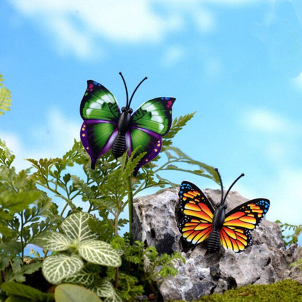 4PCS Garden Decoration Lovely Cute Butterfly Fairy Garden Miniatures ...