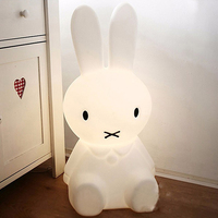 30CM Rabbit Led Night Light Dimmable For Children Baby Kids Gift Animal Cartoon Decorative Lamp Bedside