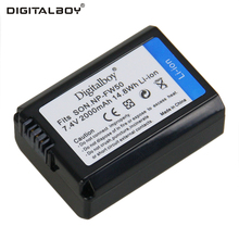 Digital Boy 2000mAh 7.4V 1PCS NP-FW50 NP FW50 NPFW50 New Camera Battery For Sony NEX-3 NEX-5C Alpha A55 NEX-7 NEX-C3