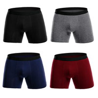 4 шт./лот мужские трусы боксеры длинные человек большой плюс размеры короткие дышащий гибкие shortsboxers твердые мужской брюки много
