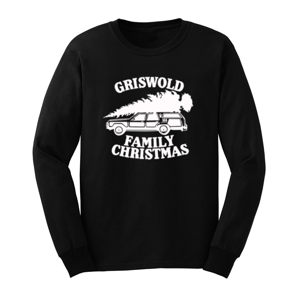 Mens Griswold Family Christmas Vacation Funny Christmas Gift Long Sleeve T Shirts Casual Men Tee