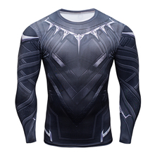 3D Printing Superhero Superman/Batman Men Long Sleeve T Shirt Gym Compression Tights Tops Fitness T-shirt