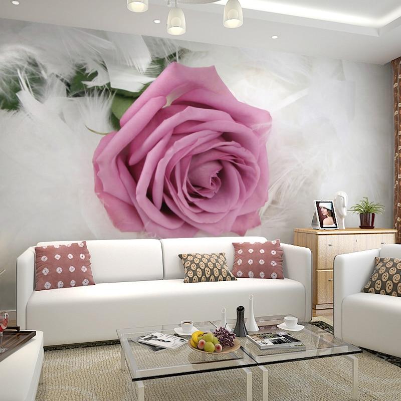 Papier peint Photo personnalisé Style européen fleur romantique 3D Mural mariage chambre salon Non-tissé imprimé papier peint 3D