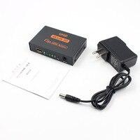 4 K * 2 K UHD 3D Full HD 1080 p HDMI Splitter 1X4 Portowy Hub Repeater Wzmacniacz HDMI Audio Video Złączami Pośrednimi