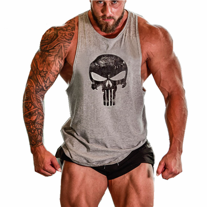 a33be2f464ea5 New Gyms Skull Superman Brand clothing Bodybuilding Fitness Men Tank Top  Golds Gorilla Wear Vest Stringer sportswear Undershirt