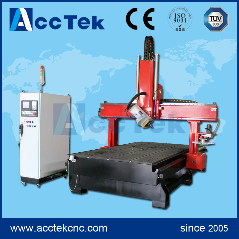 Real 4 Axis Cnc Router Machine, Jinan AccTek 4 Axis Cnc Router Price, 4 Axis Cnc Milling Machine